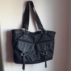 BOC Black Leather Shoulderbag.